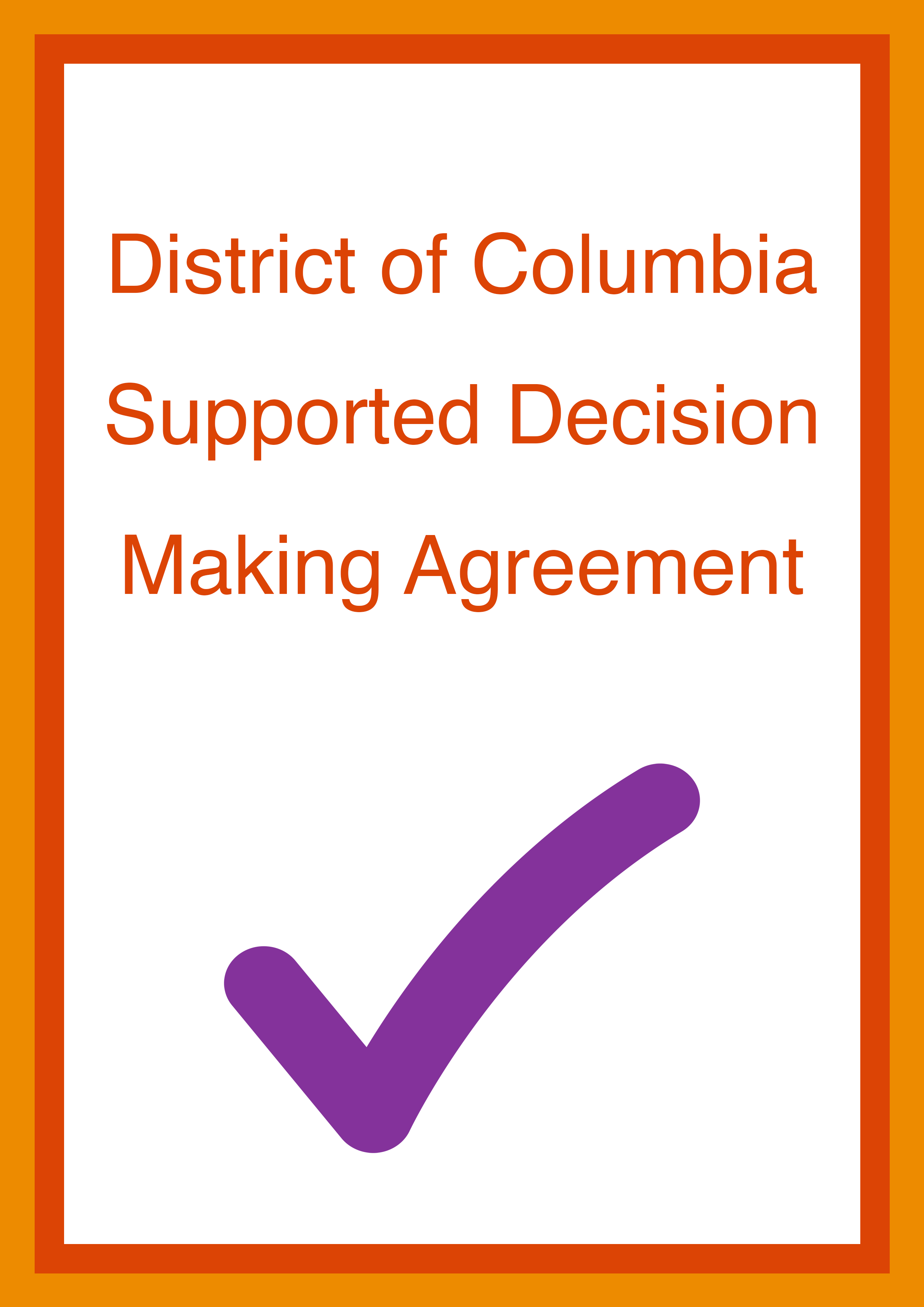 Cover art for: District of Columbia Supported Decision Making Agreement