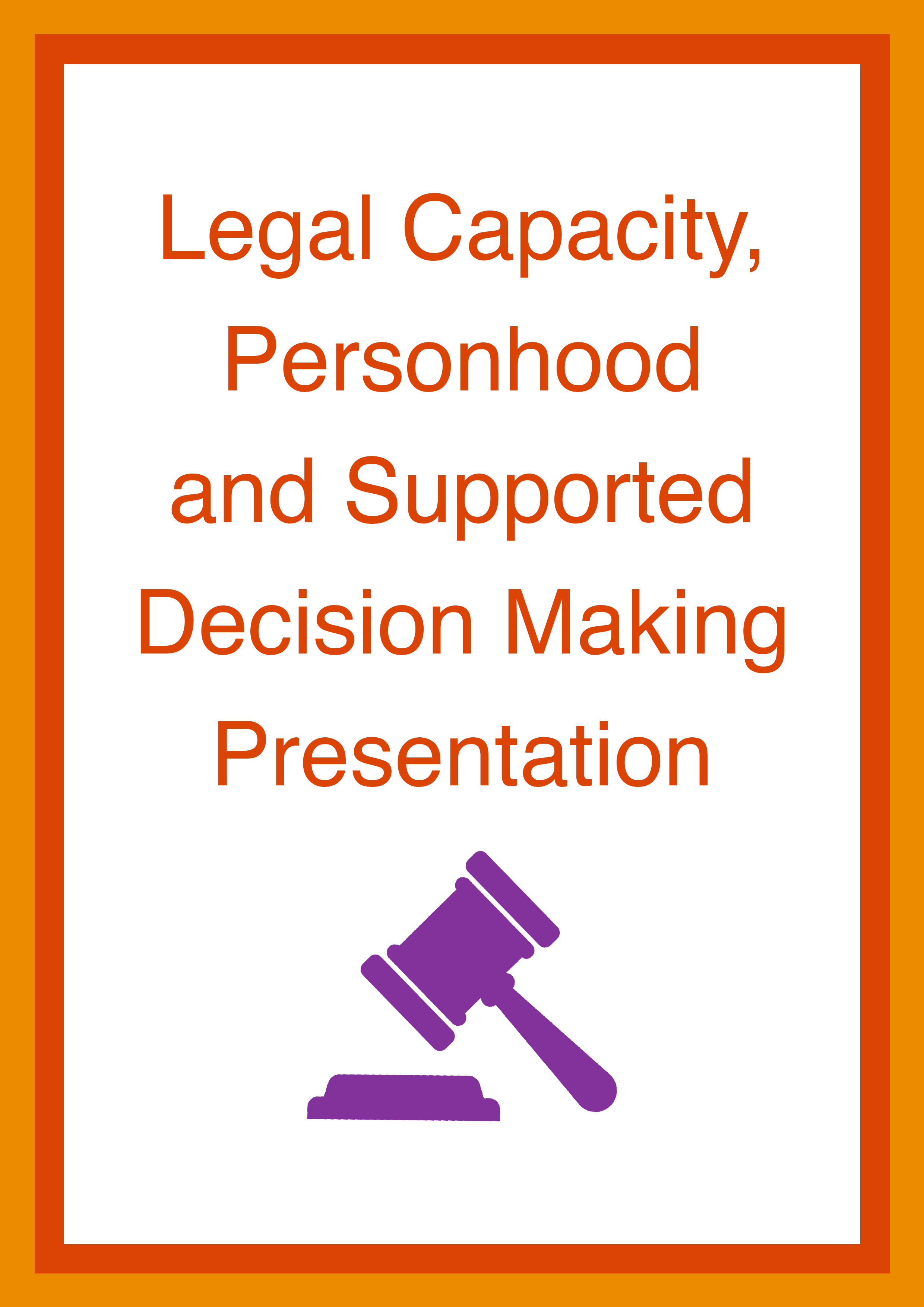 Cover art for: Legal Capacity, Personhood and Supported Decision Making