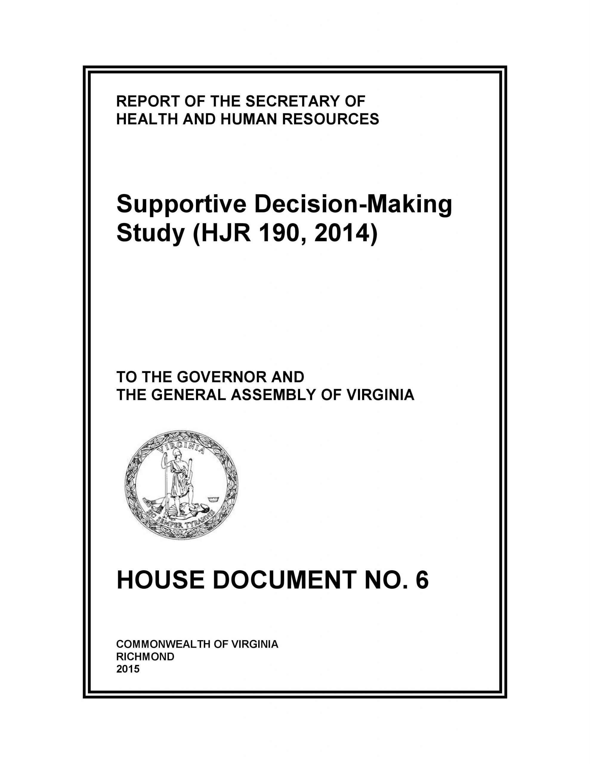 Cover art for: Supportive Decision-Making Study