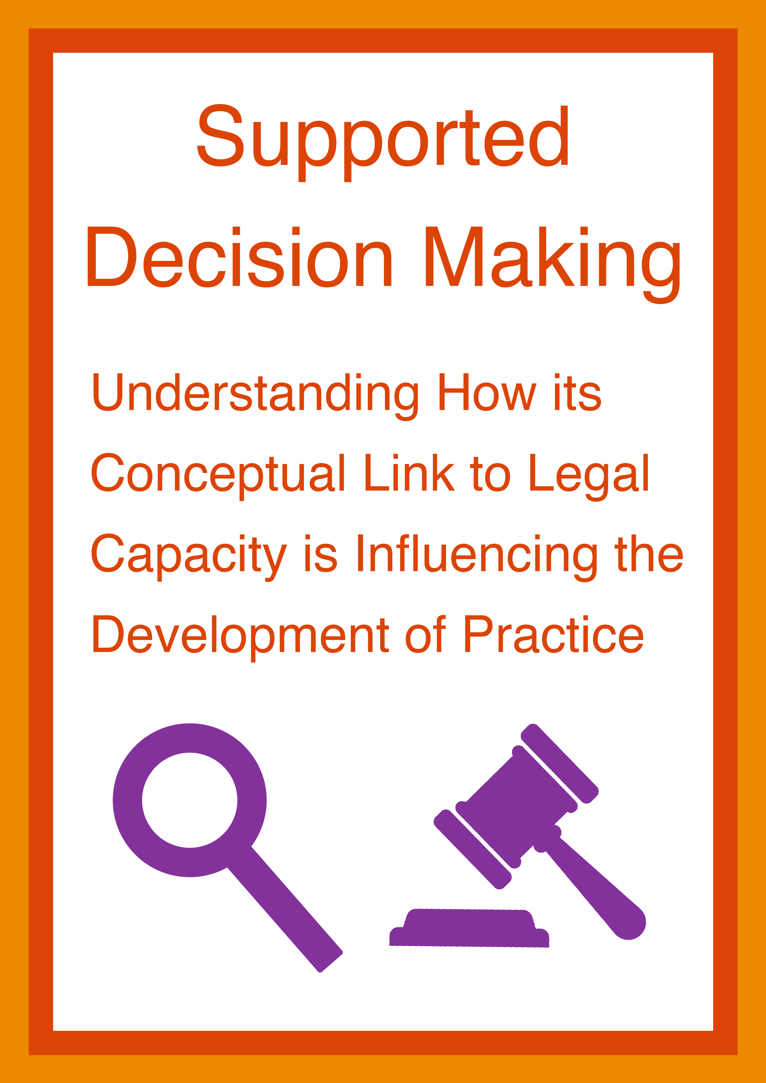 Cover art for: Supported Decision Making: Understanding How its Conceptual Link to Legal Capacity is Influencing the Development of Practice