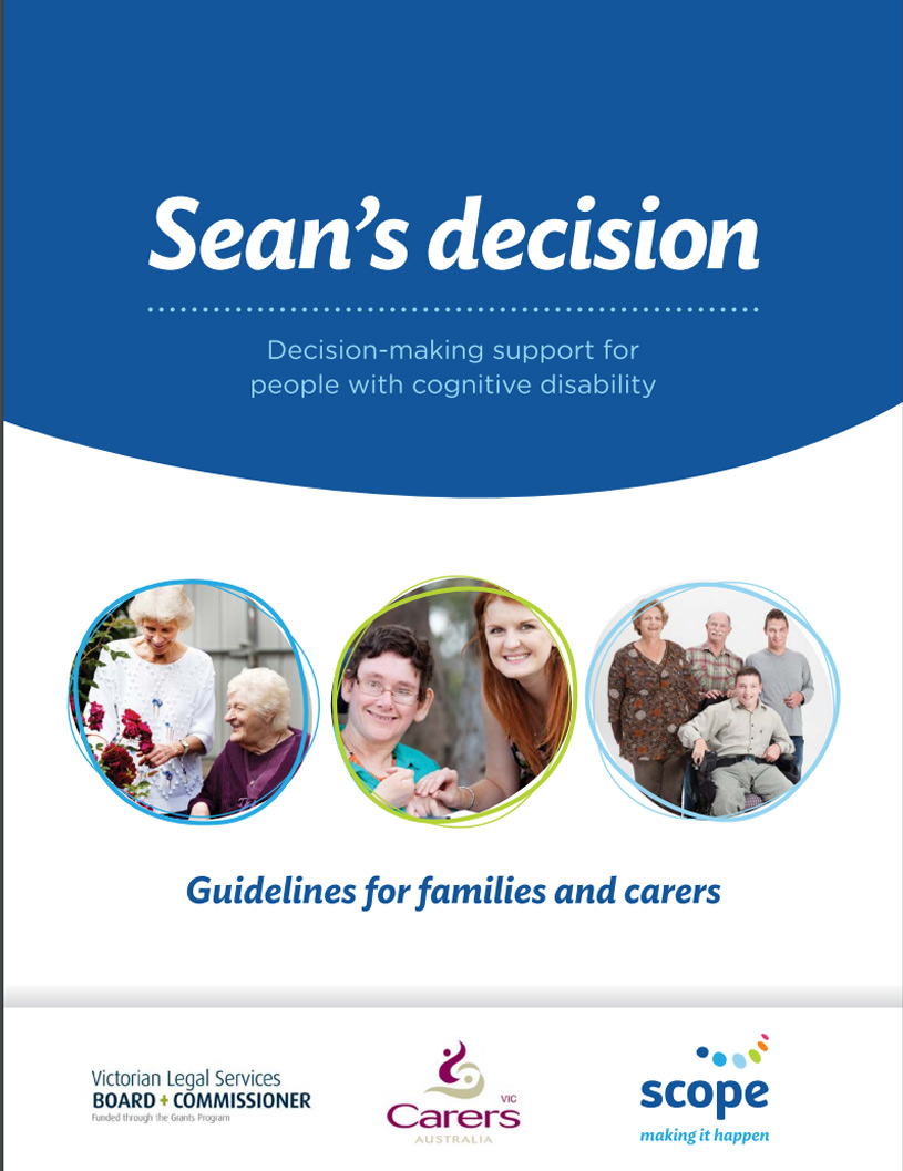 Cover art for: Sean's Decision: Decision Making Support for People with Cognitive Disability