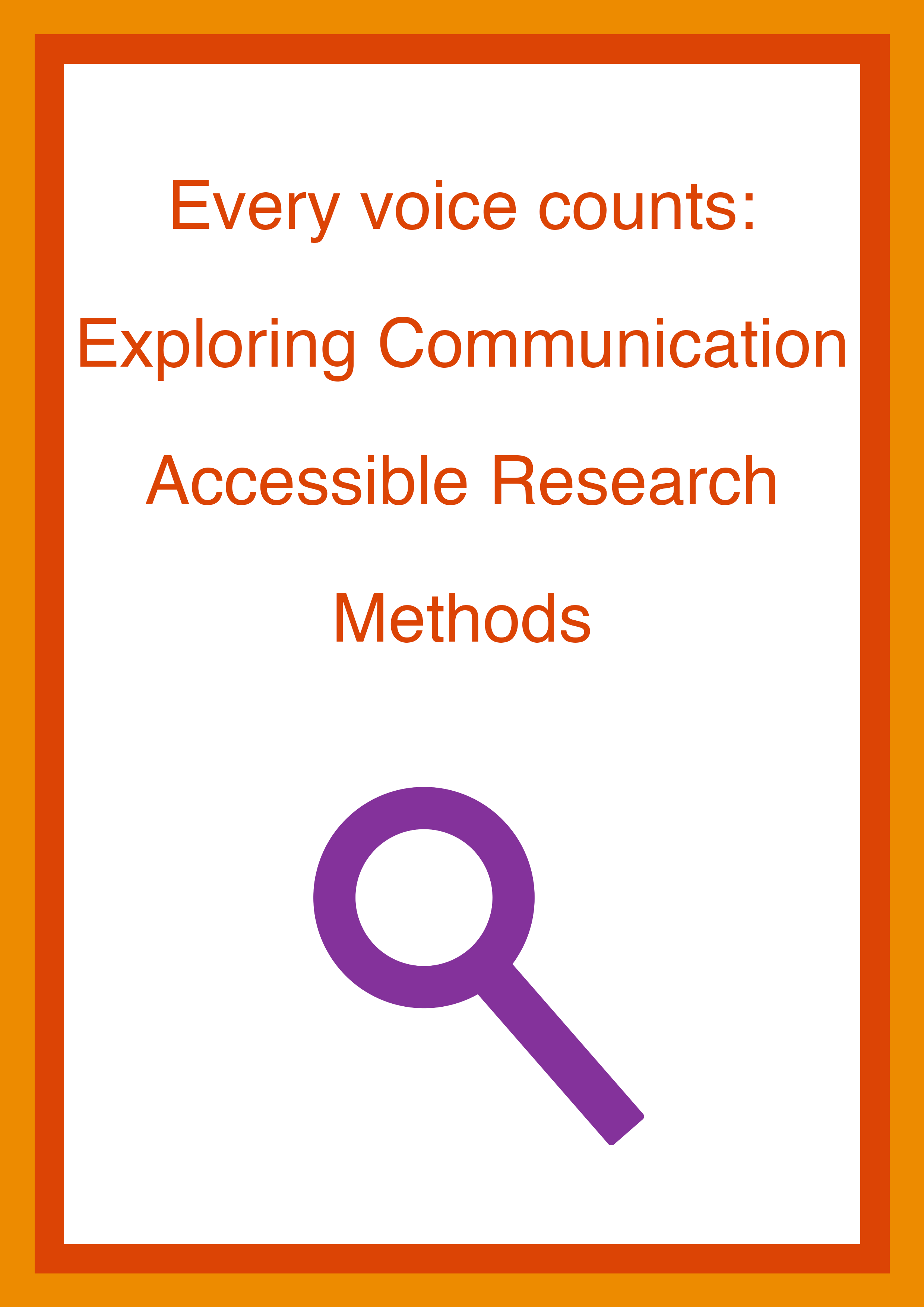 Cover art for: Every voice counts: Exploring Communication Accessible Research Methods