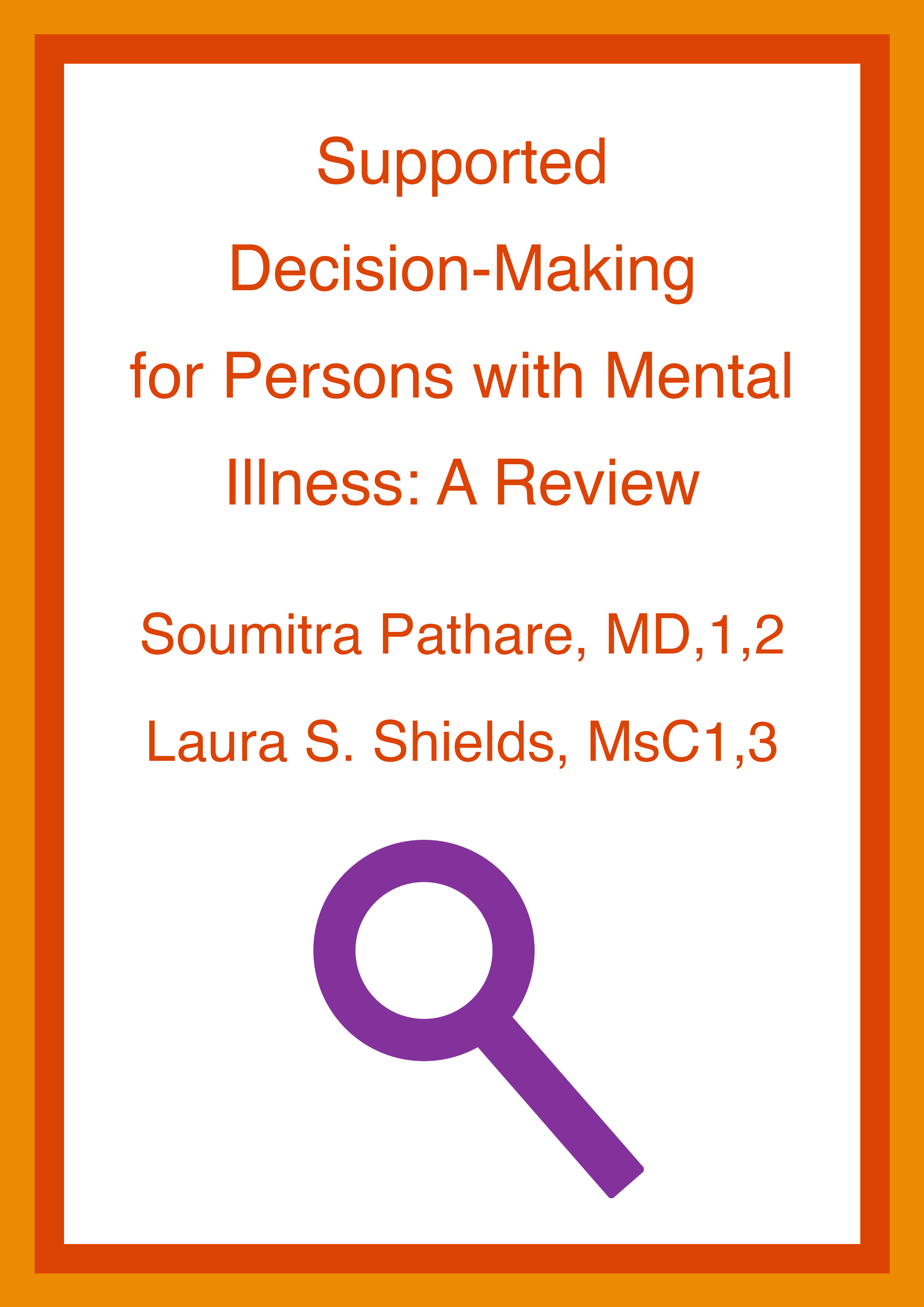 Cover art for: Supported Decision-Making for Persons with Mental Illness: A Review