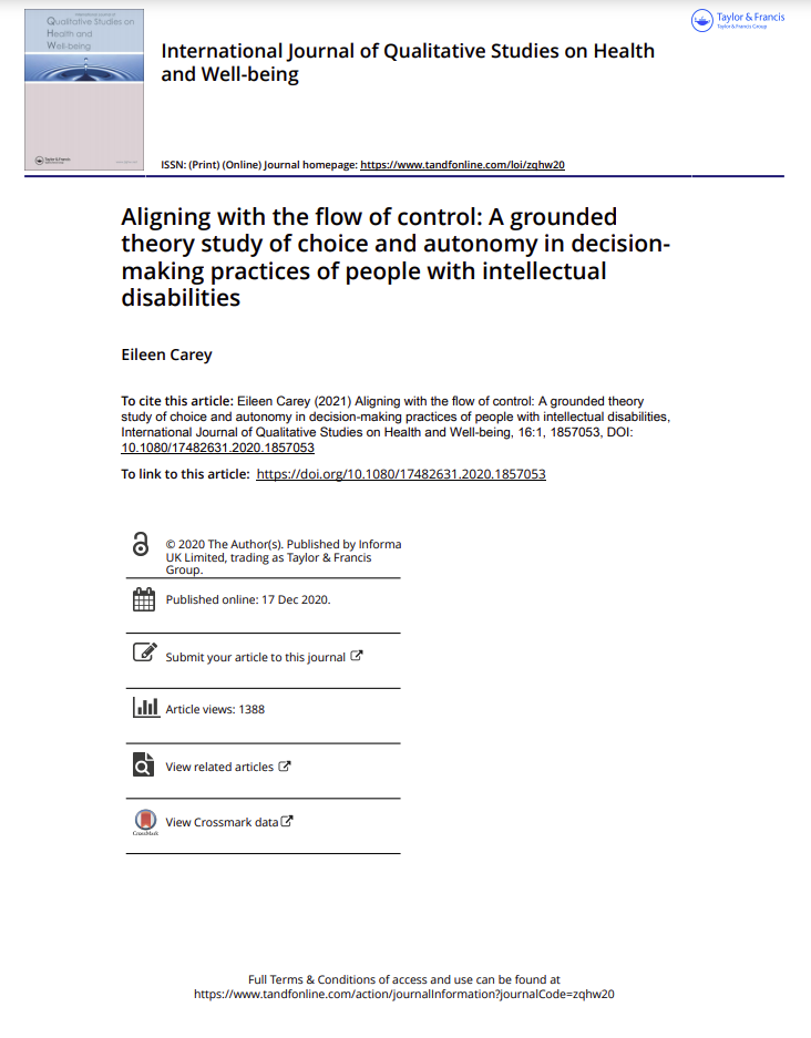Cover art for: Aligning with the flow of control: A grounded theory study of choice and autonomy in decision making practices