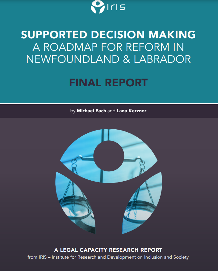 Cover art for: Supported Decision Making: A roadmap for reform in Newfoundland and Labrador